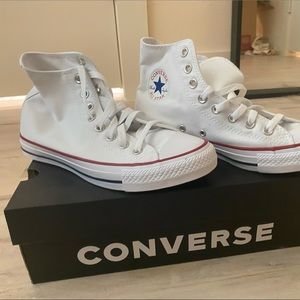 NEW White Converse All-Star High-Tops